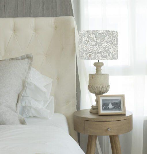klosz na lampę abażur szary vintage walec