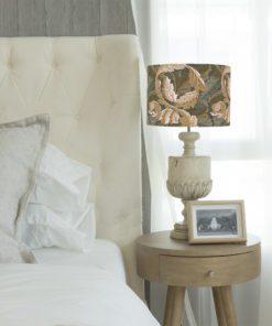 klosz do lampy brązowy listki vintage cylinder