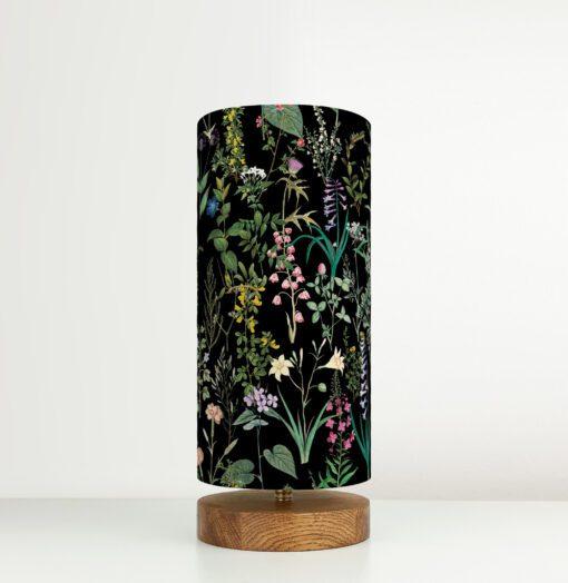 lampa czarna stołowa dekoracyjna