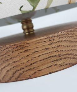 lampa drewniana z abażurem stołowa