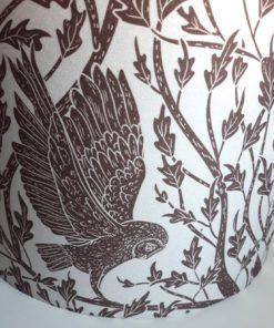 abażur klosz brązowy sowy