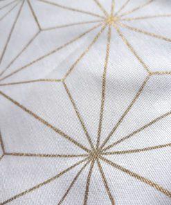 abażur biało złoty geometryczny wzór