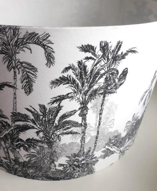 abażur tropikalny czarno-biały