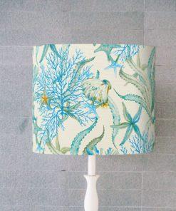 abażur niebieski dekoracyjny do lampy stołowej cylinder