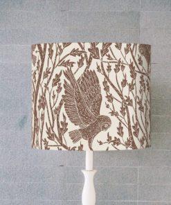 klosz na lampę abażur brązowy cylinder