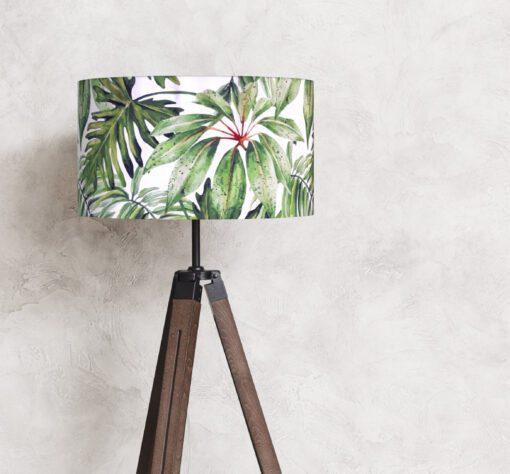 abażur klosz zielone liście na lampę stojącą podłogową