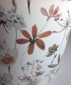 abażur klosz pastelowy kwiaty