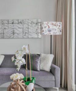 klosz abażur do lampy stojącej pastelowe kwiaty