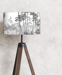 abażur klosz czarno-biały na lampę stojącą podłgową