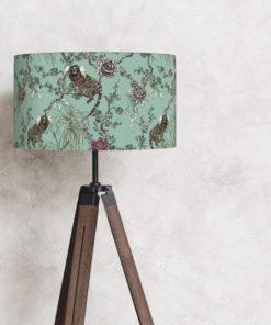 abażur klosz miętowy na lampę stojącą