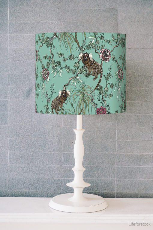 abażur do lampy stołowej miętowy walec