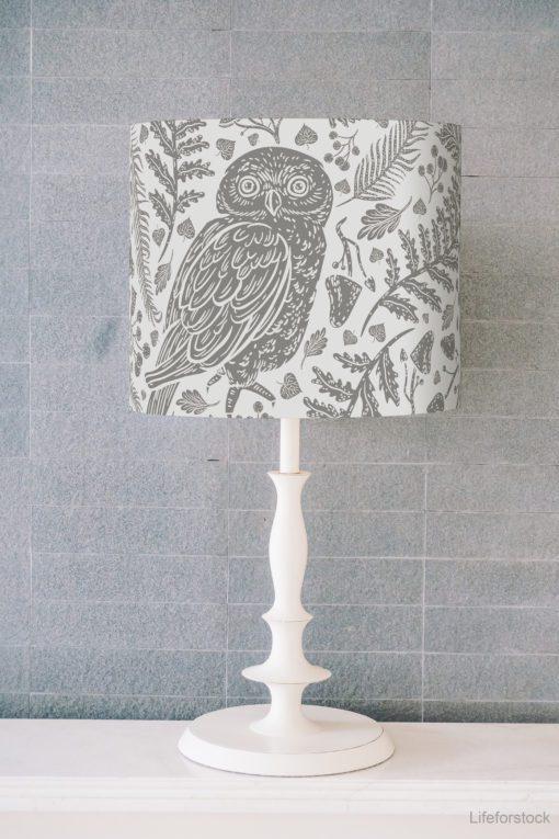 klosz na lampę abażur szary cylinder