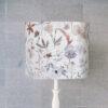 abażur do lampy stołowej pastelowe kwiaty