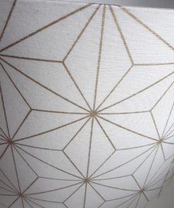 abażur klosz biało złoty na lampę