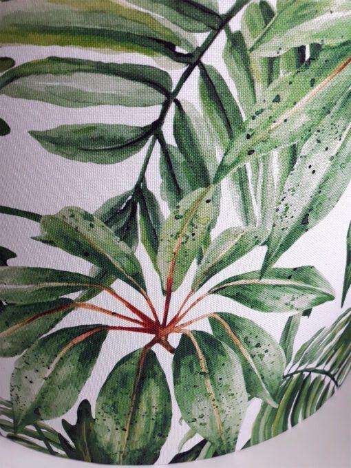 abażur klosz zielone liście