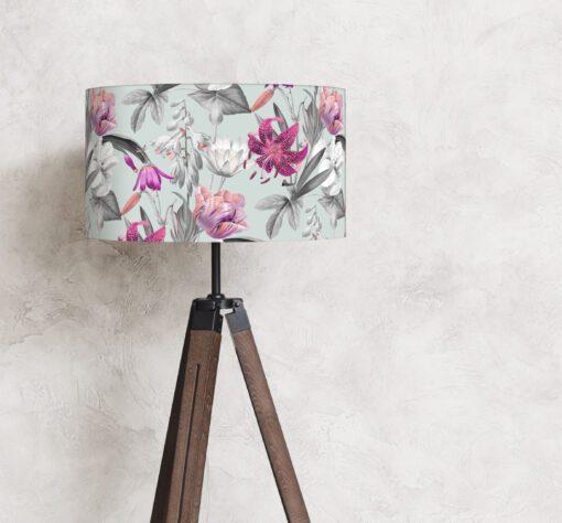 abażur klosz kwiaty na lampę