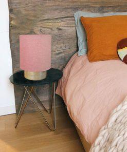 lampa stołowa lniany abażur