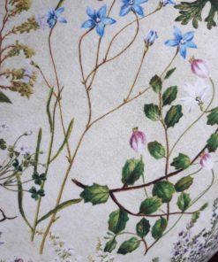 abażur beżowy w kwiaty