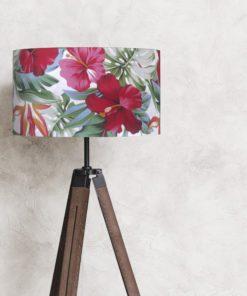 abażur w tropikalny wzór do lampy