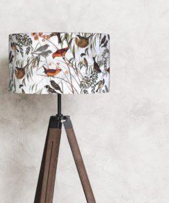 abażur klosz we wzory ptaki do lampy stołowej sklep