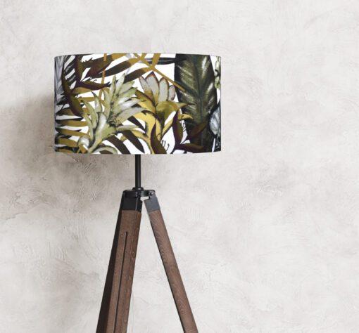 abażur rośliny liście na lampę