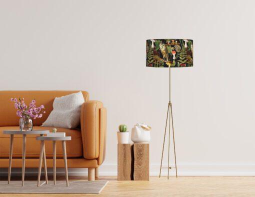 klosz do lampy stojącej dekoracyjny ciemny