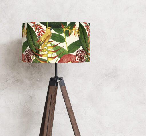 abażur klosz botaniczny na lampę stojącą