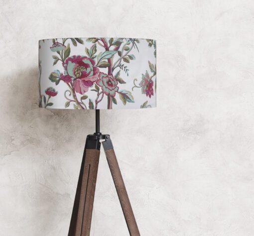 abażur klosz oryginalny na lampę kwiaty