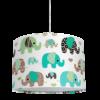 żyrandol dziecięcy turkusowe słonie
