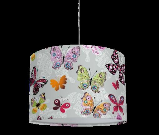 żyrandol dziecięcy dla dziewczynki motyle
