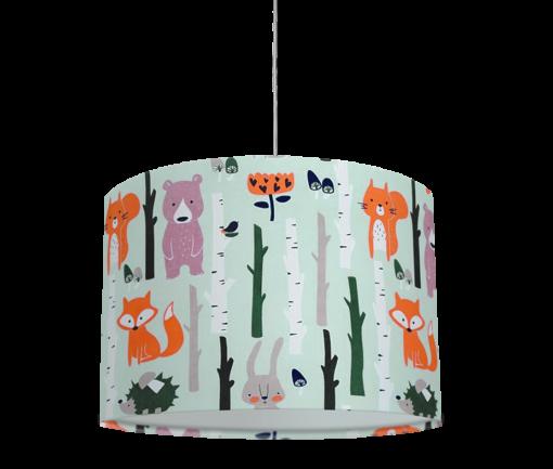 lampa dziecięca abażur sufitowy niebieski zwierzęta