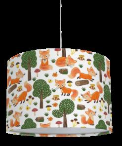 lampa sufitowa dziecięca leśny wzór
